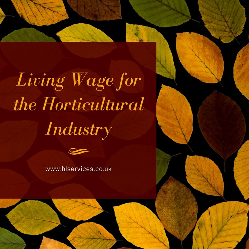 living wage for the horticulture industry banner