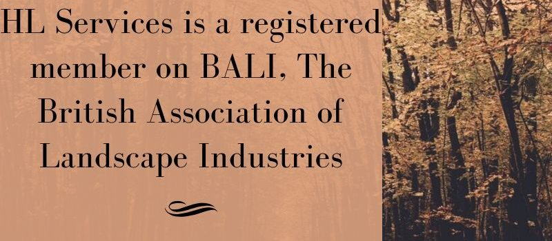 HL Services is a registered member on BALI, the british association of landscape industries banner