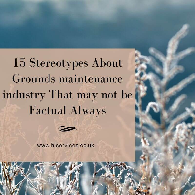 15 Stereotypes About Grounds maintenance industry That may not be Factual Always